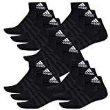 adidas 15 Paar Performance Sneaker/Quarter Socken Unisex Kurzsocke, Farbe:Black, Socken und Strümpfe:40-42