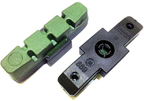 1 Paar (2St) Magura Bremsbeläge für Beschichtete Felgen Hs11 HS22 HS33 Evo (grün)