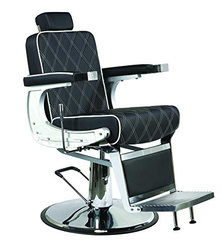 Sillón Barbero hidráulico reclinable y giratorio con reposabrazos Modelo Karl