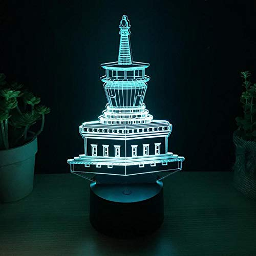 Sorpresa antes de Navidad Pagoda budista tibetana luz de noche 3d led luz visual colorida lámpara de mesa táctil colección regalo