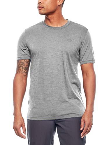 icebreaker Herren Merino T-Shirt Spector, Metro Hthr, L, 103038