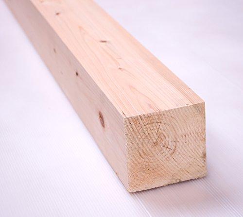 川島材木店 10.5cmx10.5cmx20cm 4個セット 杉か桧または混合