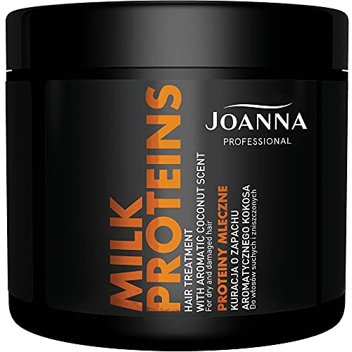 Joanna Professional Haarpflege-Creme mit Milchproteinen - Milchprotein-Serie für trockenes, strapaziertes Haar - durchdachte Formel - professionelles Haarpflegecreme für Salons - 500 g