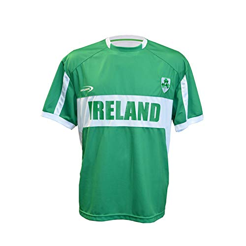 Carrolls Irish Gifts Men's Replica Style Ireland Lansdowne Rugby Jersey, Green Colour