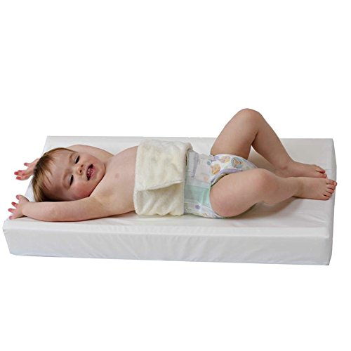 "PooPoose Wiggle Free Diaper Changing Pad/Changing Table Pad, White, 16"" X 32"" X 3.5"""
