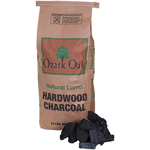 Ozark Oak Premium Natural Hardwood Lump Grill and Smoker Charcoal Briquettes, 10-Pound Bag