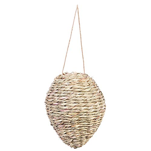 Evergreen Garden Woven Reed and Rope 10 inch Hanging Wasp Deterrent