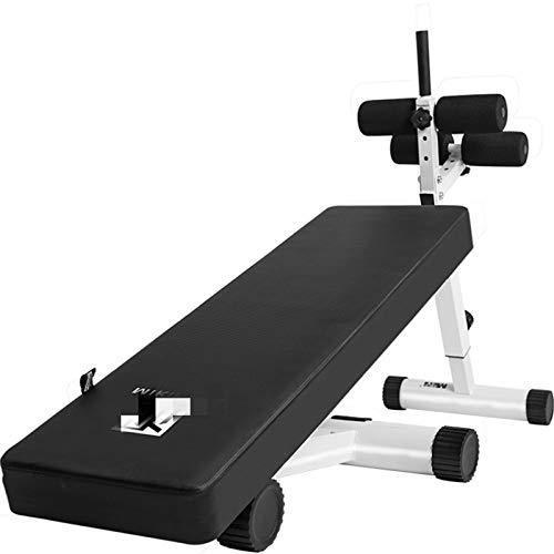 Einstellbare Fitness Bank Sit-up Board Indoor Bauchmuskeln Vorstand Multifunktionale Fitness Board Fitnessausrüstung Haus Bauchmuskeltrainer Für Anfänger und Profis ( Color : Black , Size : Medium )