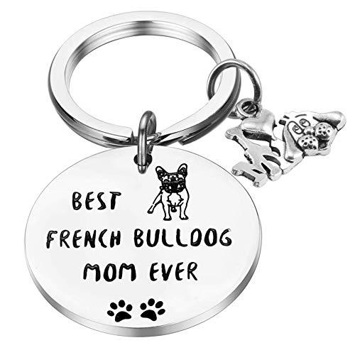PARTNER French Bulldog Gifts Funny Bulldog Dog Mom Gift Best French Bulldog Mom Ever Keychain Dog Lover Gift Bulldog Keychain (Keychain)
