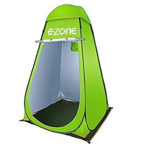 Pop Up Shower Tent Instant Portable Outdoor Privacy Tent, Camp Toilet, Changing Room, Rain Shelter with Window – for Camping and Beach – Easy Set Up, Foldable with Carrying Bag (Green)