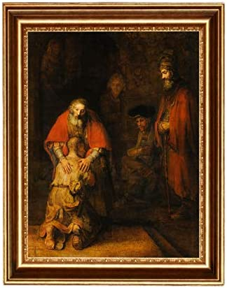Eliteart The Return of The Prodigal Son by Rembrandt Oil Painting Reproduction Giclee Wall Art product image