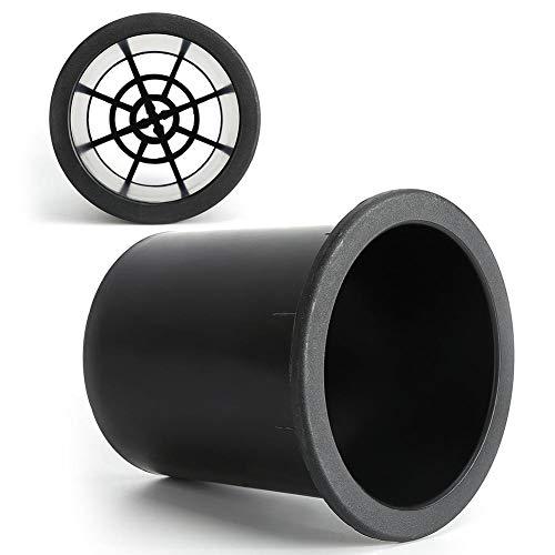 Wendry Speaker Inverter Tube, anti-rattennet, hoogwaardig ABS-kunststof, 2 stuks 100 mm Opening Speaker Inverter Tube met resistente net voor 8-12 inch luidsprekers