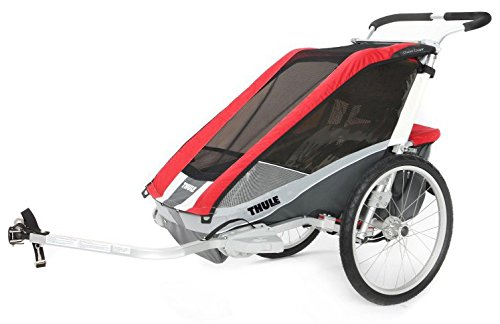 Thule Chariot Cougar 2 Bike Trailer + Bicycle Trailer Kit red 2019 Fahrradanhänger