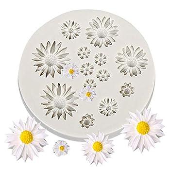 Mayplus Daisy Flower Molds Fondant Cakes Decor Tools Silicone Mold Sugarcrafts Chocolate Baking Tool for Cakes Grey