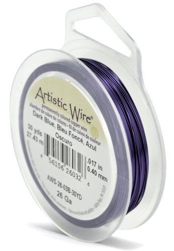 Artistic Wire Beadalon Fil résistant pour la fabrication de Calibre 26 27,43 m Bleu Foncé
