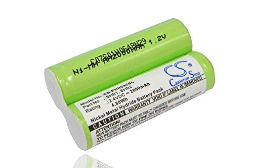 vhbw Batería Ni-MH 2000mAh (2.4V) marca compatible con Philips Philishave 905, Philishave 925, Philishave HP1322, T-770 afeitadora