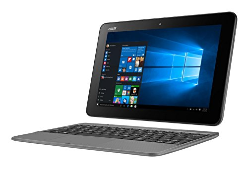 Asus Transformer Book T101HA-GR030T Portatile, 10.1' 1280x800, Intel Atom X5-Z8350 1.4 Ghz, 4GB RAM DDR3L, 128 GB EMMC, Colore: Grigio, [Germania]