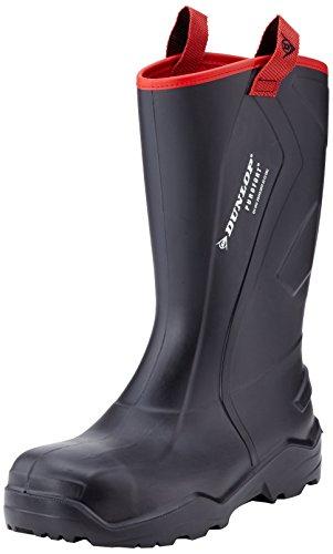 Dunlop Protective Footwear (DUO18) Dunlop Purofort Rugged, Botas de Seguridad Unisex Adulto, Black, 47 EU