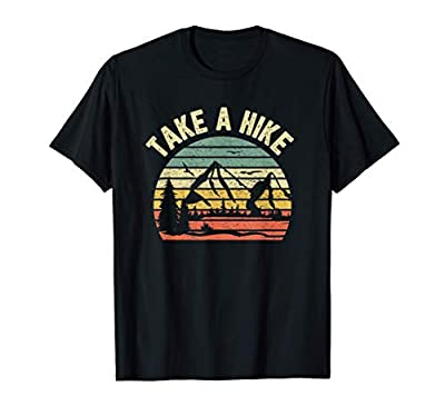 Take A Hike Shirt Retro Hiker Outdoors Camping Nature Hiking T-Shirt