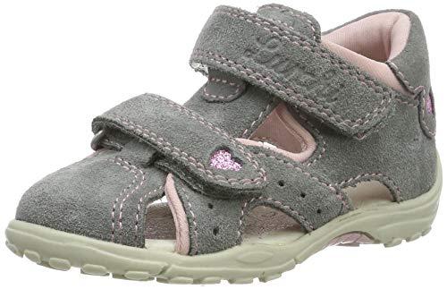 Lurchi Baby Mädchen MOMO Sandalen, Grau (Grey 25), 24 EU