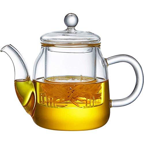 Tetera,Tetera de hierro fundido,Juego de tetera de vidrio s hervidor de vidrio resistente al calor Filtro doméstico pequeño Grueso de té Set de té 500 ml Decoración del hogar Presente