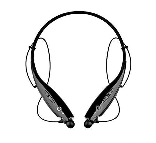 Techfire HBS 730 Wireless Neckband Bluetooth Earphone Headset Earbud Portable Headphone Handsfree Sports Running Sweatproof Compatible Android Smartphone Noise Cancellation - (Black) (HBS 730)