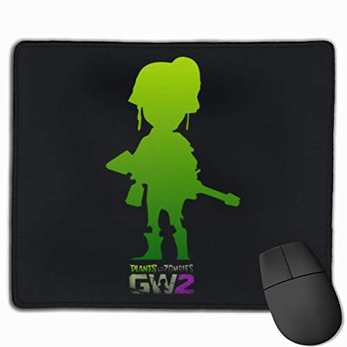Whecom Gaming Mauspad Schwarz, Non-Slip Gaming Mouse Mat Custom Plants Vs Zombies Gw 2 Mouse Pad Personality Designs Smooth Comfortable Touch Gaming Mousepad 25 * 30cm / 11.81