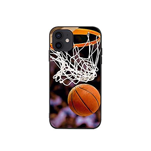 JINGJINGJIAYOU Funda Suave de Silicona para teléfono móvil para iPhone, Protector de Baloncesto para iPhone 12 Mini 11 Pro X XS MAX XR 8 7 6 6S Plus Case-baloncesto1_iphone7 / 8