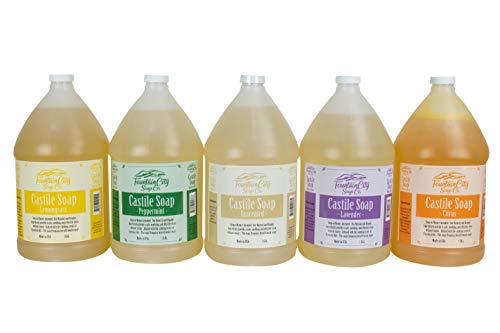 Pure Castile Liquid Soap, Eucalyptus, 1 Gallon | Made with Organic Oils | Face, Body, Hair, Laundry, Pets & Dishes | Concentrated, Vegan, Non-GMO