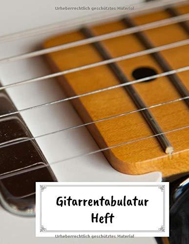 Gitarrentabulatur Heft: Gitarren Tab Block mit leeren Tabulaturlinien und Akkorddiagrammen   108 Seiten inkl. Inhaltsverzeichnis   Geschenkidee für Gitarristen