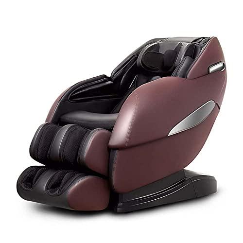 All-in-One-elektrischer Massagestuhl, automatisches, rütteltes Knetpresse/Ganzkörper-Nullpunkt-Akupressur-Massage-Recliner mit Bluetooth erhitzten Fußrollen,