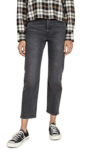 Levi's Women's Wedgie Straight Jeans, Break A Leg, Grey, 23