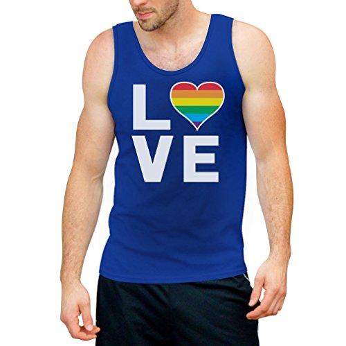 CSD Shirt/LGBT Tank Top Homosexuell Gay Pride Regenbogen Herz in Love Tank Top Medium Hellblau