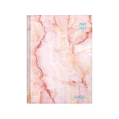herlitz 50034888 schoolagenda 2021/2022 Legend, A5, motief: marmer roze, 1 stuk