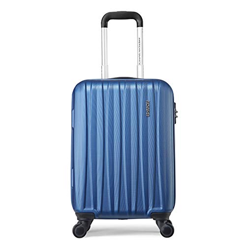 YASB Eight-Wheel Universal Pulley Travel Luggage, Waterproof Wear-Resistant Carry Case Earthquake Resistance Carry on Luggage Sets,Blue,L