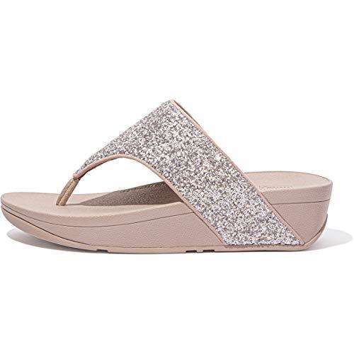 Fitflop Olive Glitter Mix Toe-Post Sandals, Infradito Donna, Rosa Corallo, 43 EU
