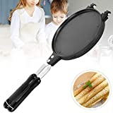 ETE ETMATE Waffle Irons Mold, Nonstick Coating Surface Baking Pan, Double Side Ice Cream Pancake Cone Maker Machine,Egg Roll Griddle (17cm/6.7in Diameter)