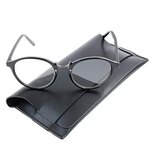 Best of Luck 老眼鏡 ボストン 40代からの スマホ老眼鏡 おしゃれ ブルーライトカット UV400 1.0 1.5 2.0 2.5 PC眼鏡 レディース メンズ (ブラック, 1.0) glasses-r-001-01