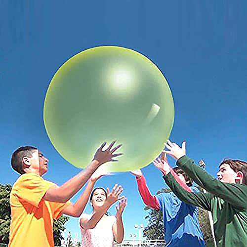 Bola De Burbujas Bola De Diversión Inflable Transparente Azul Amarillo Bola Inflable Increíble Super Bola De Burbujas Globo De Agua Juego De Diversión Al Aire Libre Juguete Para Niños Jardín Al Aire L