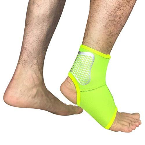 Sport Knöchelbandage Ärmel Unterstützung Wache Fuß Orthese Orthopädische Knöchelbandage Stabilisator (1 Paar),Yellow,XL
