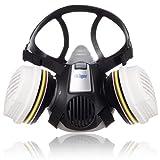 Dräger X-Plore 3300 Semi máscara + filtros A1B1E1K1 Hg P3 R D | Respirador de seguridad para trabajos químicos frente a vapores, conservantes, pesticidas | Talla M