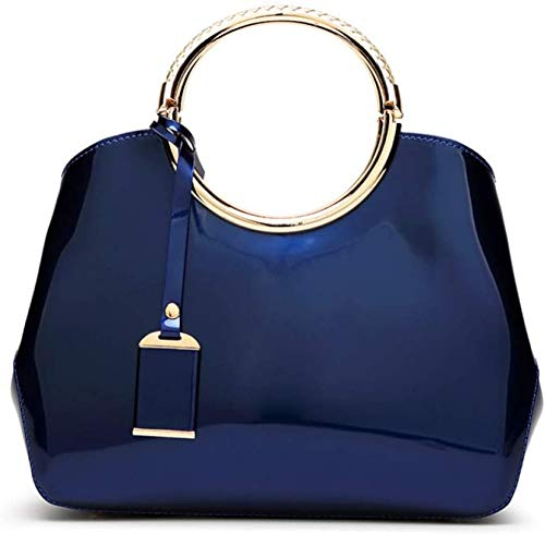 Wghz Umhängetasche, Hochglanzhandtaschen aus Lackleder Noble Atmosphere Handtaschen Damenschultern Schräge Schlingen Handtaschen Styling-Taschen PU-Material