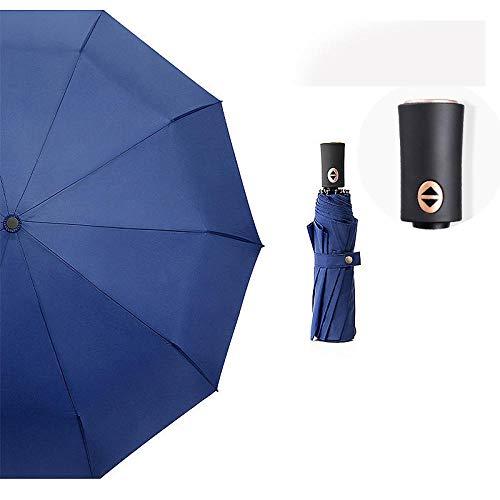 Lichtgewicht sneldrogende opvouwbare reisparaplu, Ten-bone volledig automatische paraplu, opvouwbare winddichte zonnige paraplu, draagbare paraplu's met ergonomisch handvat