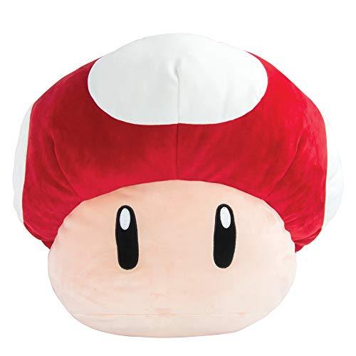 Club Mocchi Mocchi Super Mario Jumbo Mushroom Plush Toy for Kids Red