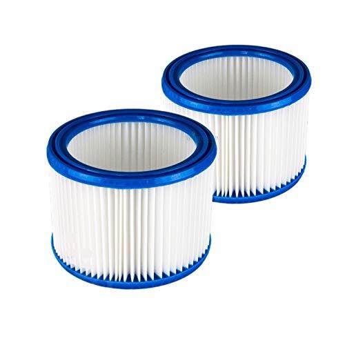 2x Filtro de cartucho mojado y seco Nilfisk Aspirador Multi 20-30 (- CR/ INOX/T/T Inox/T VSC INOX) alternativa a la original 107402338 de Microsafe