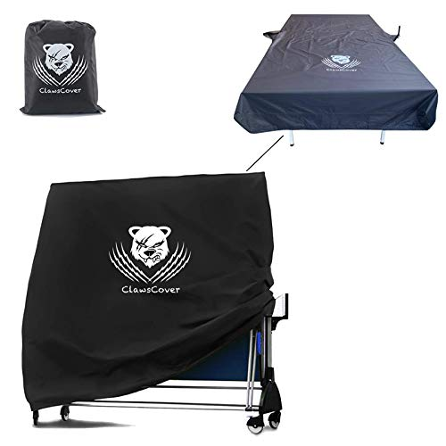 ClawsCover Table Tennis Covers Waterproof Heavy Duty Foldable Ping Pong Table Cover Outdoor Indoor Patio Furniture Accessories