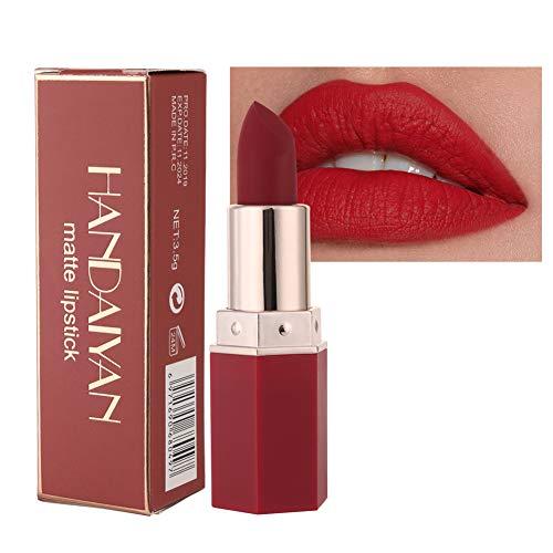 GL-Turelifes Matte Lipstick Samtige rote Lippenstifte Wasserdichte, lang anhaltende, glättende Antihaft-Tasse Sexy Colors Lipsticks (# 04 Scharlachrot)