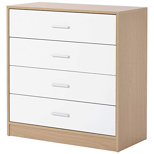 ZOEON Kommode mit 4 Schubladen - Sideboard 72x35x75 cm (LxBxH) - Schrank für Schlafzimmer Wohnzimmer Badezimmer Flur Küche