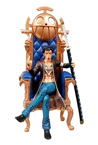 Liiokiy 29 cm Figura de anime Estatuas de arte One Piece Figure Trafalgar Law Sofá Sofá Figura Figura Figura Modelo Hecho A Mano Modelo Juguetes Coleccionables Animaciones de Juguete Arte Modelo Model