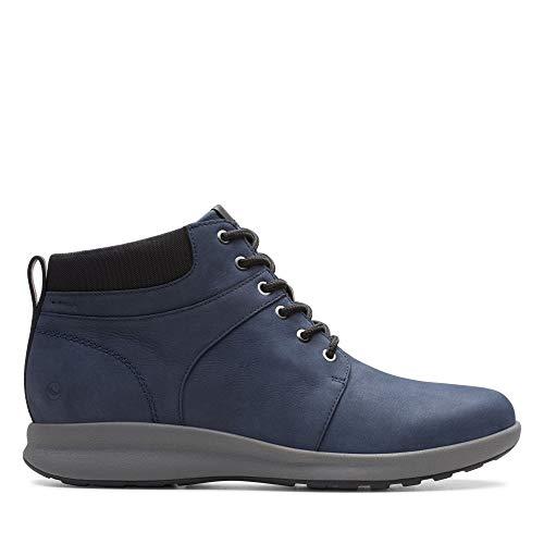 Clarks Un Adorn Walk, Damen Kurzschaft Stiefel, Blau (Navy Nubuck Navy Nubuck), 35.5 EU